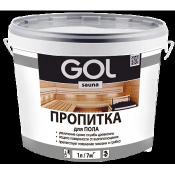 Пропитка для пола бань и саун  GOL № 313 (1,0 кг)/2